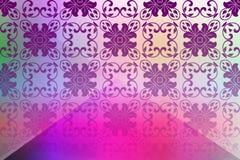 Предпосылка абстрактного вектора красочная при яркие цвета затеняя иллюстрацию вектора Стоковое Фото