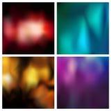 Предпосылка абстрактного вектора пестротканая запачканная установила комплект 4 цветов Придайте квадратную форму запачканным уста Стоковые Изображения