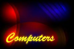 Предпосылка абстрактного вектора пестротканая затеняемая с компьютерами формулировок и световым эффектом, иллюстрацией вектора Стоковое фото RF