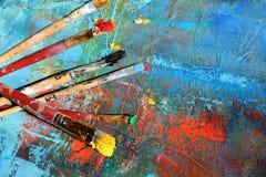 предпосылка абстрактного искусства покрашенная рука предпосылки Стоковое Фото