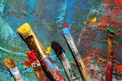 предпосылка абстрактного искусства покрашенная рука предпосылки Стоковое Изображение RF
