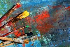предпосылка абстрактного искусства покрашенная рука предпосылки Стоковые Фото