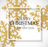 Предпосылка абстрактного Нового Года праздника и веселого рождества также вектор иллюстрации притяжки corel стоковые изображения