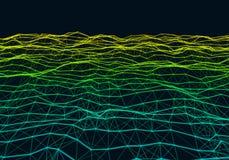 Предпосылка абстрактного полигонального красочного градиента низкая поли Стоковое Изображение