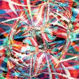 Предпосылка абстрактной акварели волнистая Стоковое Изображение