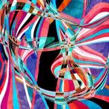 Предпосылка абстрактной акварели волнистая Стоковая Фотография