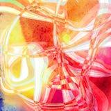 Предпосылка абстрактной акварели волнистая Стоковые Изображения RF