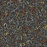 Предпосылка абстрактной математики. Стоковая Фотография