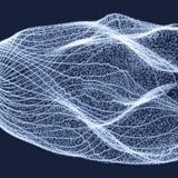 Предпосылка абстрактной науки или технологии конструируйте график Иллюстрация сети с частицой Стоковые Фото