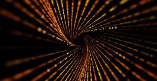 Предпосылка абстрактной науки или технологии Массив с динамическими частицами иллюстрация штока