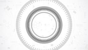 Предпосылка абстрактной технологии колеса шестерни иллюстрация штока