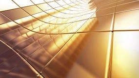 предпосылка абстракции 3d золотистая Стоковое Изображение