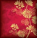 предпосылка Азии флористическая Стоковое Изображение RF