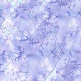 Предпосылка акварели безшовная цвета сирени с пятнами и пятна красок, для украшения и дизайна, иллюстрация зимы Стоковые Изображения RF
