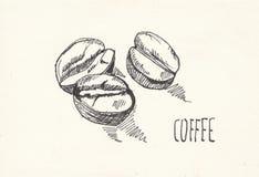 Предпосылка акварели бумаги зерна кофе, красивая творческая планета бесплатная иллюстрация