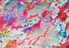 Предпосылка акварели в розовых, фиолетовых, голубых, серых цветах Стоковое Изображение