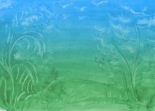 Предпосылка акварели градиента с пятнами бесплатная иллюстрация