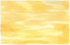 Предпосылка акварели для текстур абстрактная акварель предпосылки yellow Стоковое Фото