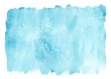 Предпосылка акварели моря голубая стоковые изображения