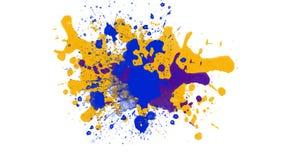 Предпосылка акварели творческая для текстур абстрактная акварель предпосылки Брызгает красочной краски на белой предпосылке иллюстрация вектора