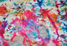 Предпосылка акварели waxy в фиолетовых, голубых, серых цветах Стоковые Изображения