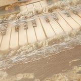 предпосылка аккордеони пользуется ключом морской сбор винограда Стоковая Фотография