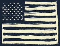 Предпосылка американского флага Горизонтальная ориентация Стоковые Изображения RF