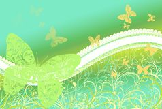 Предпосылка бабочки Стоковые Фото