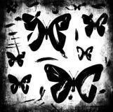 Предпосылка бабочки Grunge Стоковые Изображения