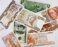 Предпосылка банкнот от различных стран стоковые изображения rf