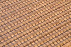Предпосылка, бежевая геометрическая решетка Стоковая Фотография