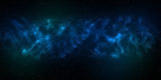 Предпосылка безмерного пространства с межзвёздным облаком и звездами Использование для предпосылки звезды космоса или концепции к Стоковое Фото