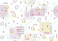 Предпосылка безшовного конспекта картины геометрическая Стиль Мемфиса Стоковая Фотография RF