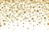 Предпосылка безшовного confetti золота звезды белая изолировала вектор иллюстрация штока