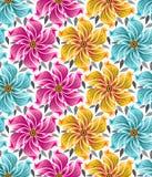 Предпосылка безшовных цветков для тканей Стоковые Фото
