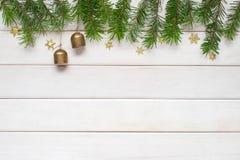 Предпосылка белого рождества деревянная Стоковое Фото