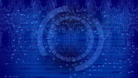 Предпосылка бинарного кода, предпосылка абстрактной технологии цифров Ява, кодирвоание иллюстрация штока
