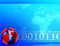 Предпосылка бинарного Кода стоковые изображения