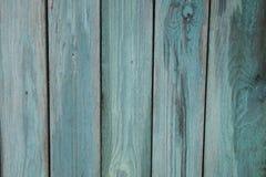 Предпосылка бирюзы деревянная - покрашенные деревянные планки для стены или пола таблицы стола Стоковое Изображение