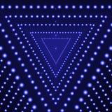 Предпосылка блеска треугольника вектора голубая, накаляя круги, абстрактные света иллюстрация вектора