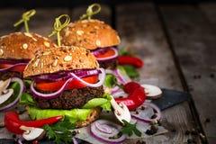 Предпосылка бургеров Vegan Стоковое Изображение RF