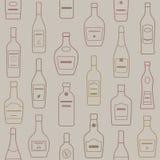 Предпосылка бутылок спирта картина безшовная Стоковая Фотография RF