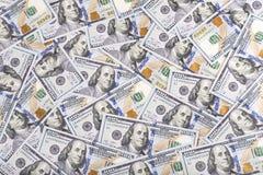 Предпосылка валюты долларов Соединенных Штатов Америки, новое hundre Стоковое Изображение