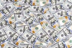 Предпосылка валюты долларов Соединенных Штатов Америки, новое hundre Стоковое Изображение RF