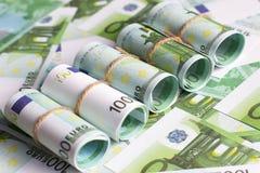 Предпосылка валюты евро, кренов евро Стоковое Фото