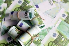 Предпосылка валюты евро, Стоковое Изображение RF