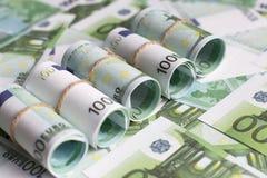 Предпосылка валюты евро, Стоковые Изображения
