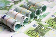 Предпосылка валюты евро, Стоковые Фотографии RF