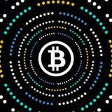 Предпосылка валюты Bitcoin секретная Стоковые Фото