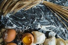 Предпосылка варить органическую handmade еду стоковое фото rf